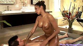 Sweet massage girl Kayla Carrera in hot sex scene