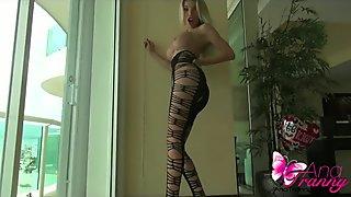 Ana Mancini in a sexy bodystocking