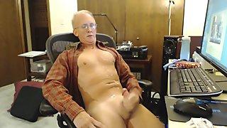 Str8 daddy stroke in the office