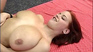 Chubby and busty redhead Lisa loves anal sex in the gym