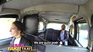 Female Fake Taxi Sexy driver gets some student cock