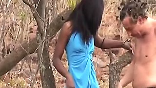 African Sista Deepthroating And Getting Fucked By A Mature German Perv