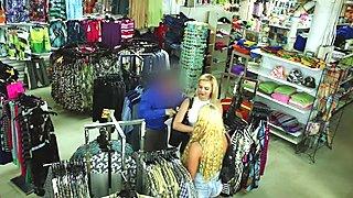 Shoplifter besties got their pussies railed so hard