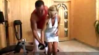 Ultra hot Hungarian model anal fucked in gym