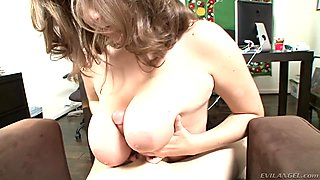 Red hot Alex Chance gives this dick a titty fuck