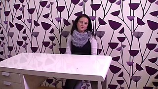CZasting - Pretty Czech brunette at casting