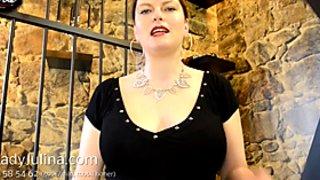 Spitting Worship Speichel Mistress Teasing Dominakuss FemDom