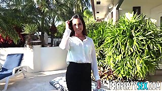 PropertySex Horny realtor busted watching porn