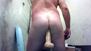 joey d with fast anal machine in juicy butt