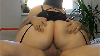 BBW PAWG Woman Sucks and Sits on Dick