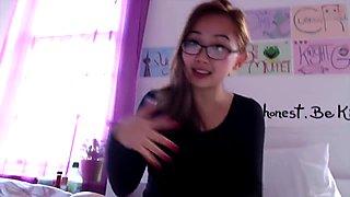 Busty hot asian teen Harriet vlog