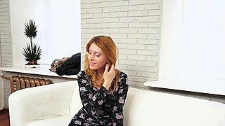 Tricky Agent - Perky redhead fucking casting
